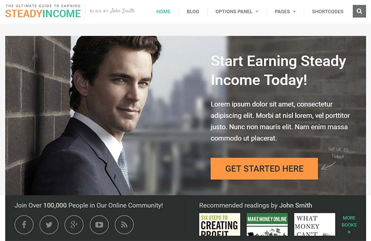 SteadyIncome Affiliate WordPress Themes