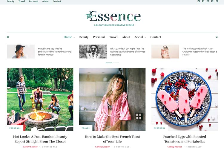 The Essence Travel WordPress Themes