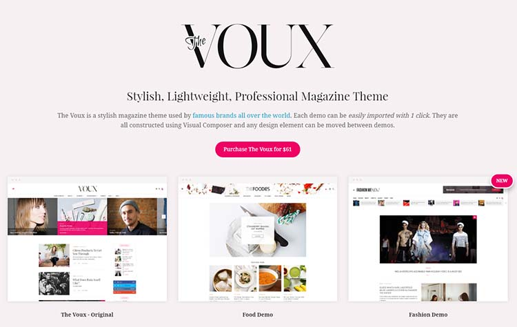 The Voux Feminine WordPress Themes