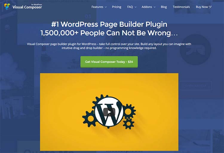 Visual Composer Drag and Drop WordPress Page Builder Plugins
