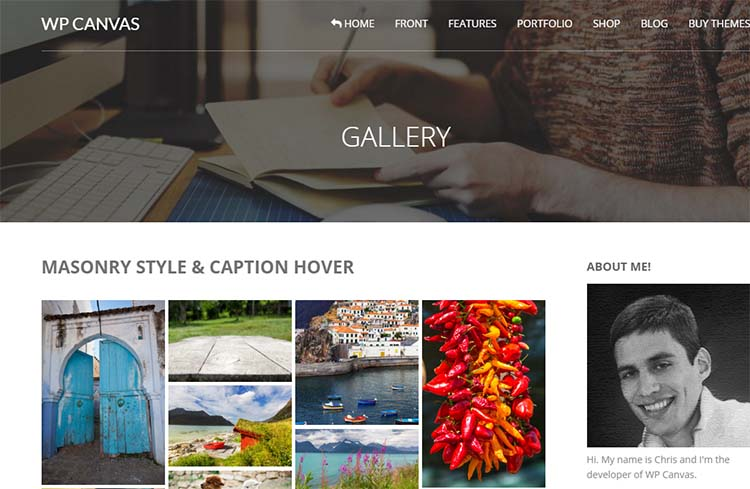 WP Canvas Gallery Plugins for WordPress