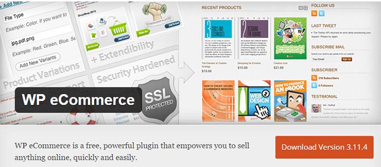 WP WordPress Ecommerce Plugins
