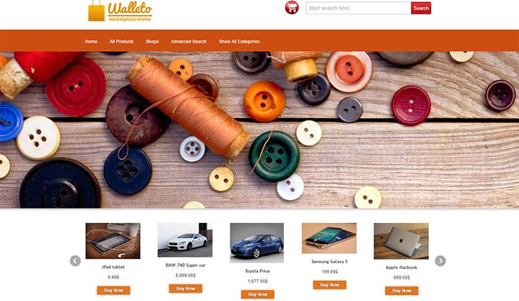 Walleto Marketplace WordPress Themes