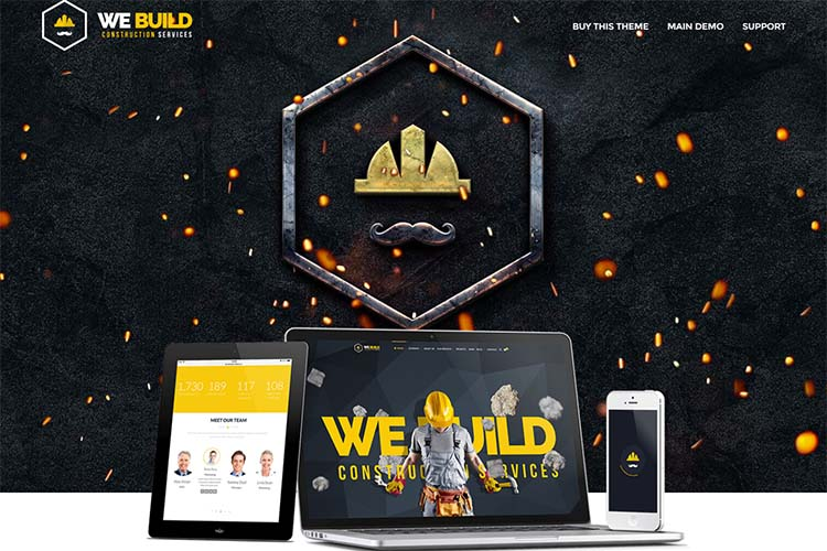 We Build Construction WordPress Themes