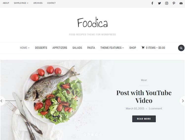 WordPress Food Themes Foodica