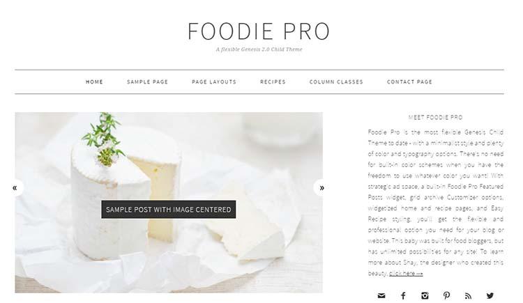WordPress Food Themes Foodie Pro