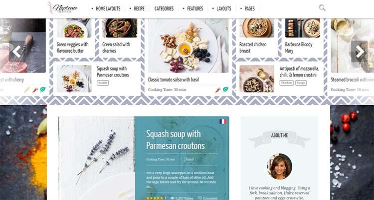 WordPress Food Themes Neptune