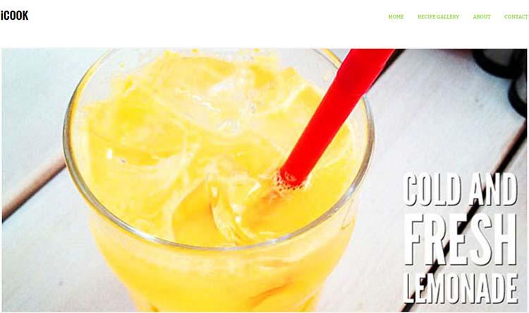 WordPress Food Themes iCook