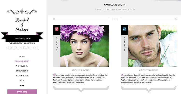 WordPress Wedding Themes Wedding Day