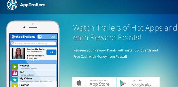 AppTrailers Apps for Making Money