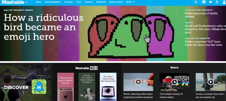 Mashable Most Popular Blogs