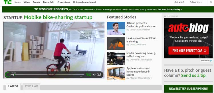 Techcrunch Most Popular Blogs