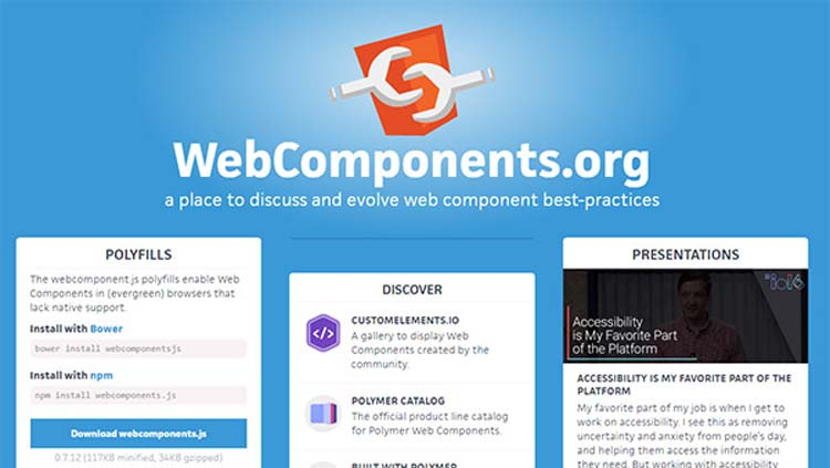 Webcomponents Web Technologies